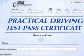 Test pass Certificate