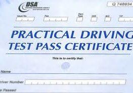 Test pass Certificate